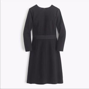 J. Crew Black Double-faced Wool Crepe Dress 2